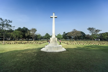 Kanchanaburi cemetery from World war 2, Thailand