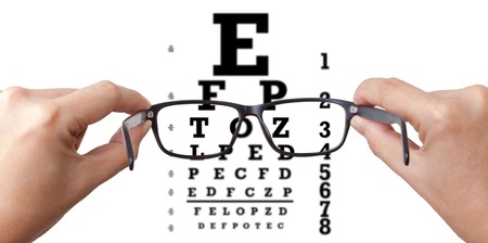 eye test: Eye test Stock Photo