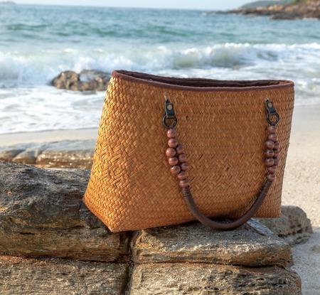 bag of weave on the seaside