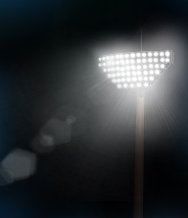 stadium lights and flare effect Stock Photo