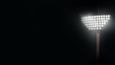 flare effect of stadium lights