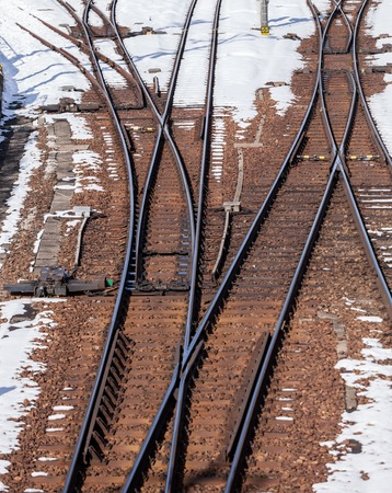 railway track in winter