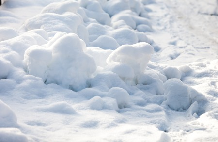 Fresh snow cover, at winter Stock Photo