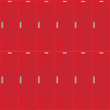 Row of metal lockers Vector