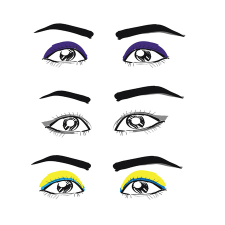 sexuality: Hand-drawn eyes vector