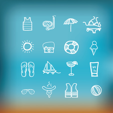 Hand drawn travel icon, vacation, trip photo