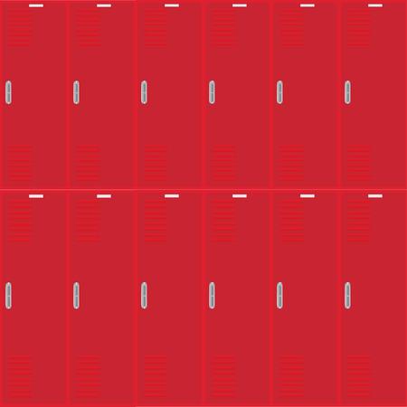 Row of metal lockers Stock Photo