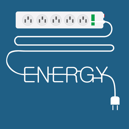 electricity plug in enery concept photo
