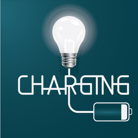 Idea charging vector illustration Vector