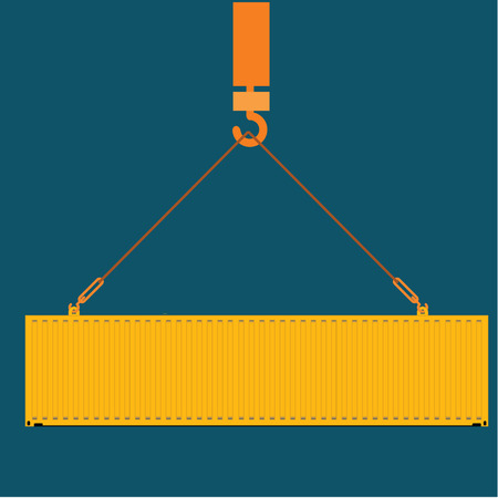 dockyard: sea freight containers vector illustration