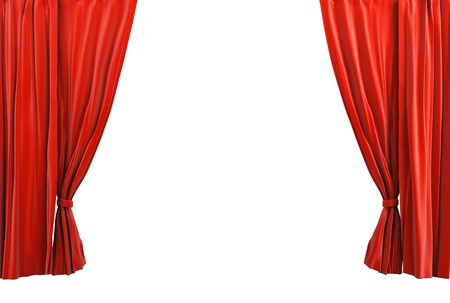 Red curtain classic style
