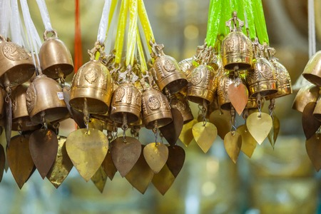 marmorate: tradition asian bell in Big Buddha temple complex Stock Photo