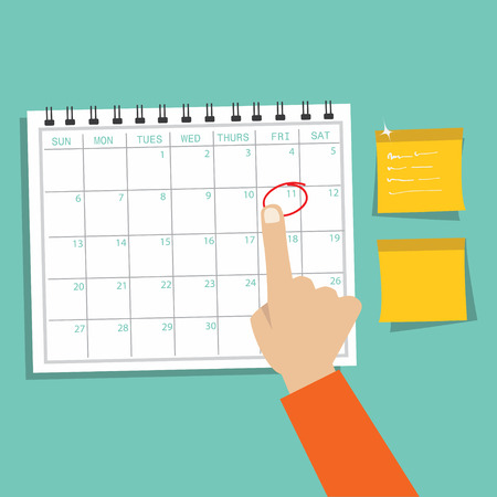 appointment: Calendar Infographic ,appointment concept
