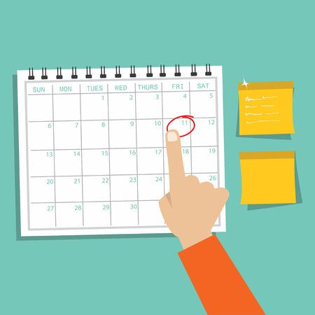 Kalender Infographic, afspraak begrip