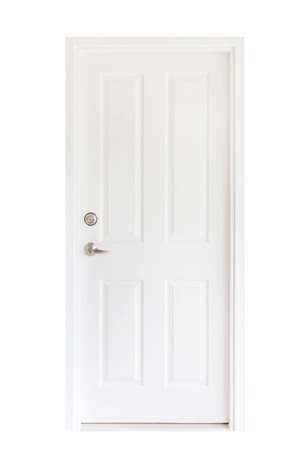 Isolated white door Stock Photo