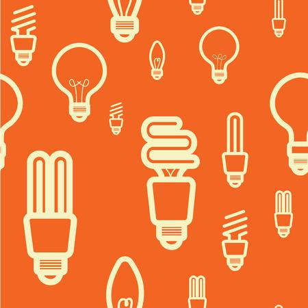 seamless pattern idea concept,light bulb , photo