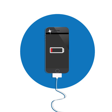 low battery: smart phone with low battery,charging mobile phone