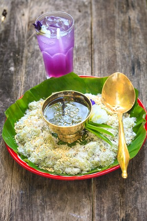 sticky: thai sticky rice dessert Stock Photo