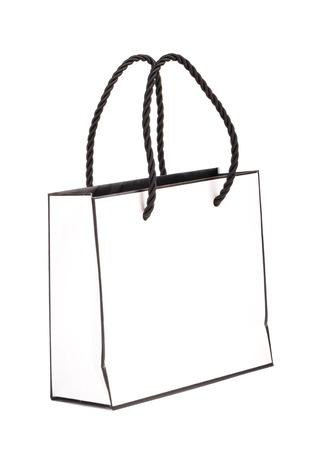 white paper bag: Bolsa de papel blanco