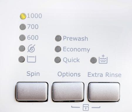 programm: Close-up view of washing machine control panel