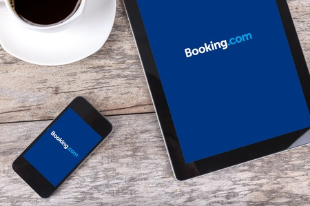 Chiang mai,THAILAND Fab 25, 2015:Booking.com the system online hotel reservations. Is founded in Amsterdam in 1996.