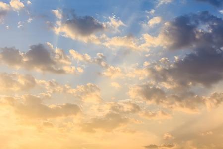 avondlucht. Mooie lucht. Stockfoto