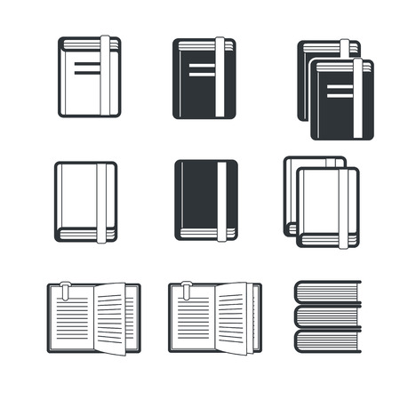 publishes: Book icons Stock Photo