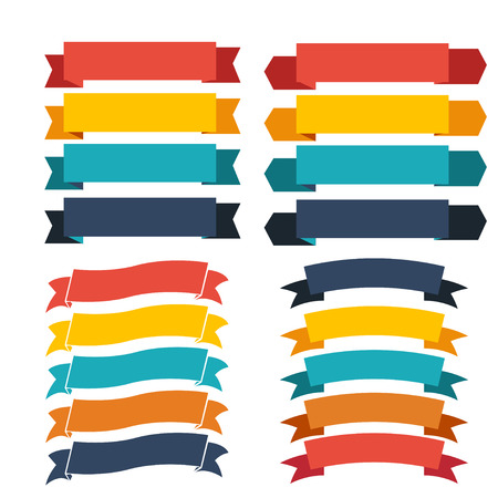 title: ribbon icons Stock Photo