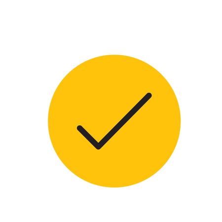 Check Mark Outline Horseshoe Icon for website design, logo Illustration