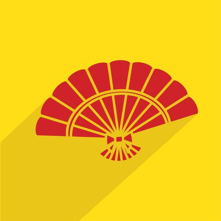 Folding fan chinese Illustration