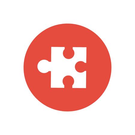 Jigsaw Pieces Outline Horseshoe Icon for website design, logo