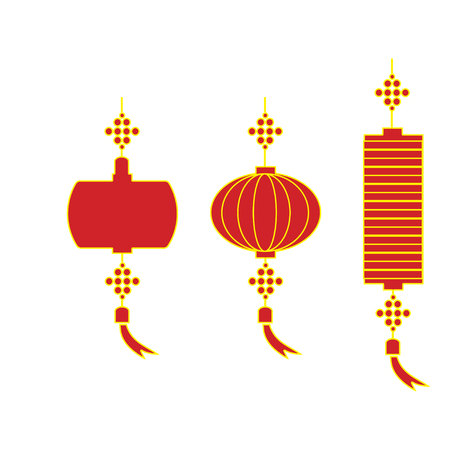 japanese ethnicity: Chinese lantern vector illustration.