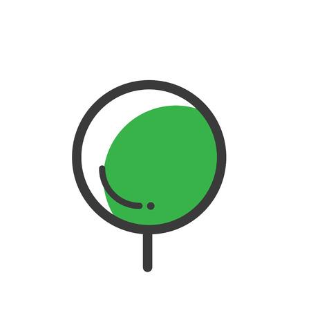 A tree line icon.