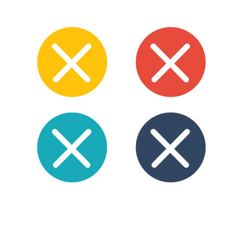 Cancel close icon Outline Horseshoe Icon for website design, logo Illustration