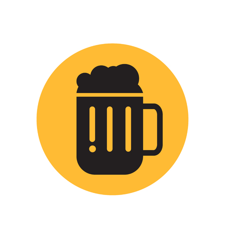 Beer icon thin line for web and mobile Illustration