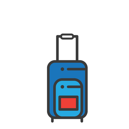 Suitcase or Luggage with Tag Graphic Design Illustration