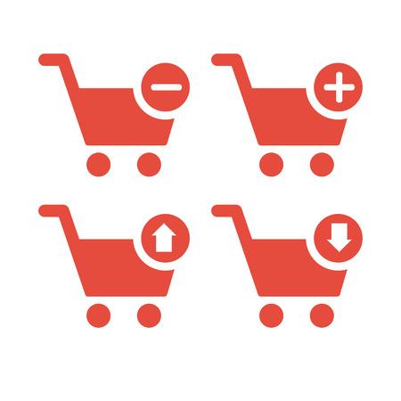 Outline Cart icon  Icon for website design, Illustration
