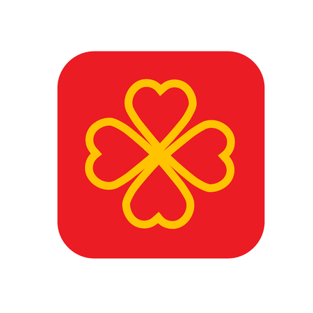 Shamrock or clover icon for web and mobile, modern flat design.