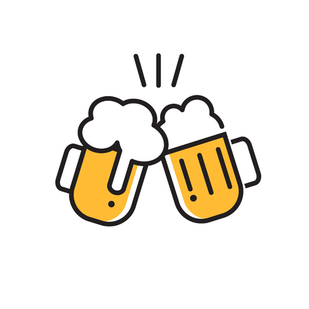 beer icon thin line for web and mobile, modern  flat design.