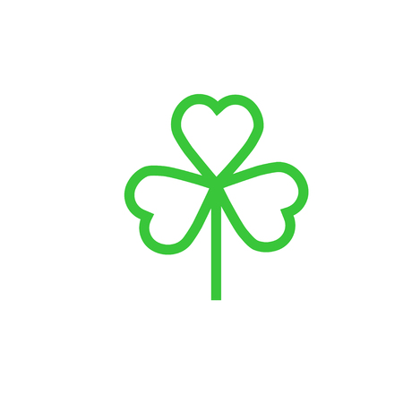 Shamrock or clover icon for web and mobile, modern  flat design. Illustration