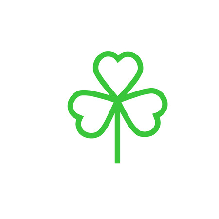 clover buttons: Shamrock or clover icon for web and mobile, modern minimalistic flat design.
