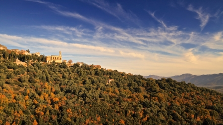 The church of Santo Pietra di Tenda in the Nebbiu region of Corsica