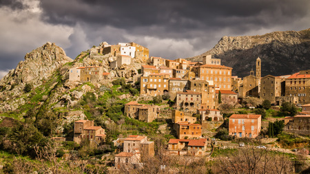 The mountain village of Speloncato in the Balagne region of northern Corsica