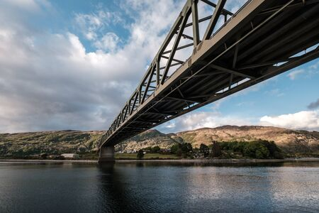 Ballachulish road bridge crossing the narrows between Loch Leven and Loch Linnhe in the West Highlands of Scotland Banco de Imagens