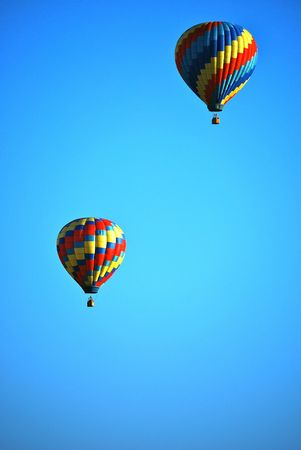 this is a shot of two hot air balloons Stok Fotoğraf