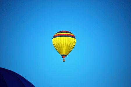 this is a shot of a hot air balloon Stok Fotoğraf