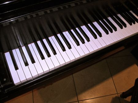 this is a shot of a piano