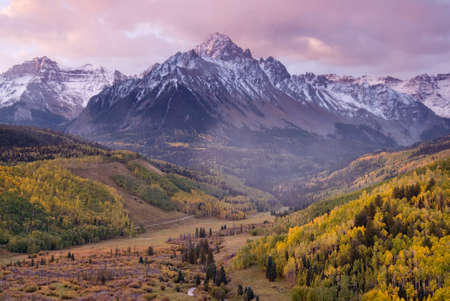 rocky mountains: A stormy autumn morning in Colorados Rocky Mountains.