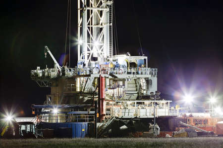 injected: A well drilling rig works in the eastern plains of Colorado to reach the Niobrara Shale formation.  Once the well is drilled and perforated, water, sand and chemicals will be injected under high pressure to fracture the shale, releasing oil and gas.