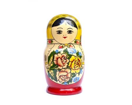 Babushka Doll isolated on white Stock Photo - 9817655